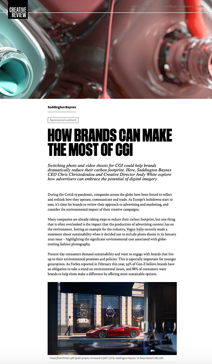 CreativeReview -How brands can make the most of CGI