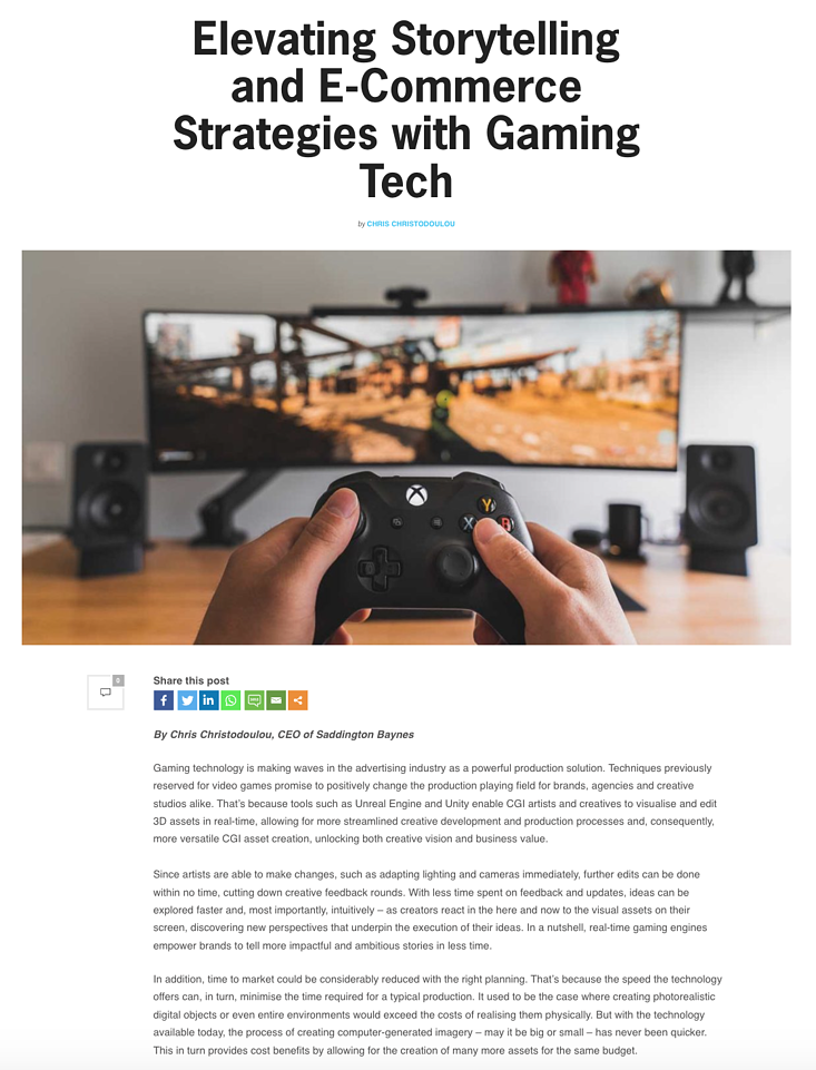 Elevating Storytelling and E-Commerce Strategies with Gaming Tech