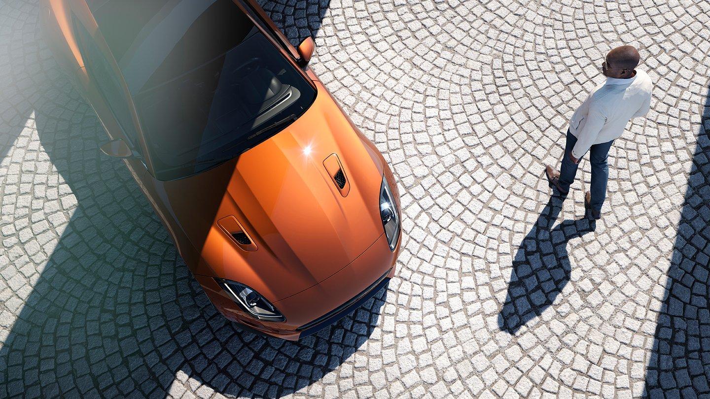 Jaguar Parked with Man - SBLabs