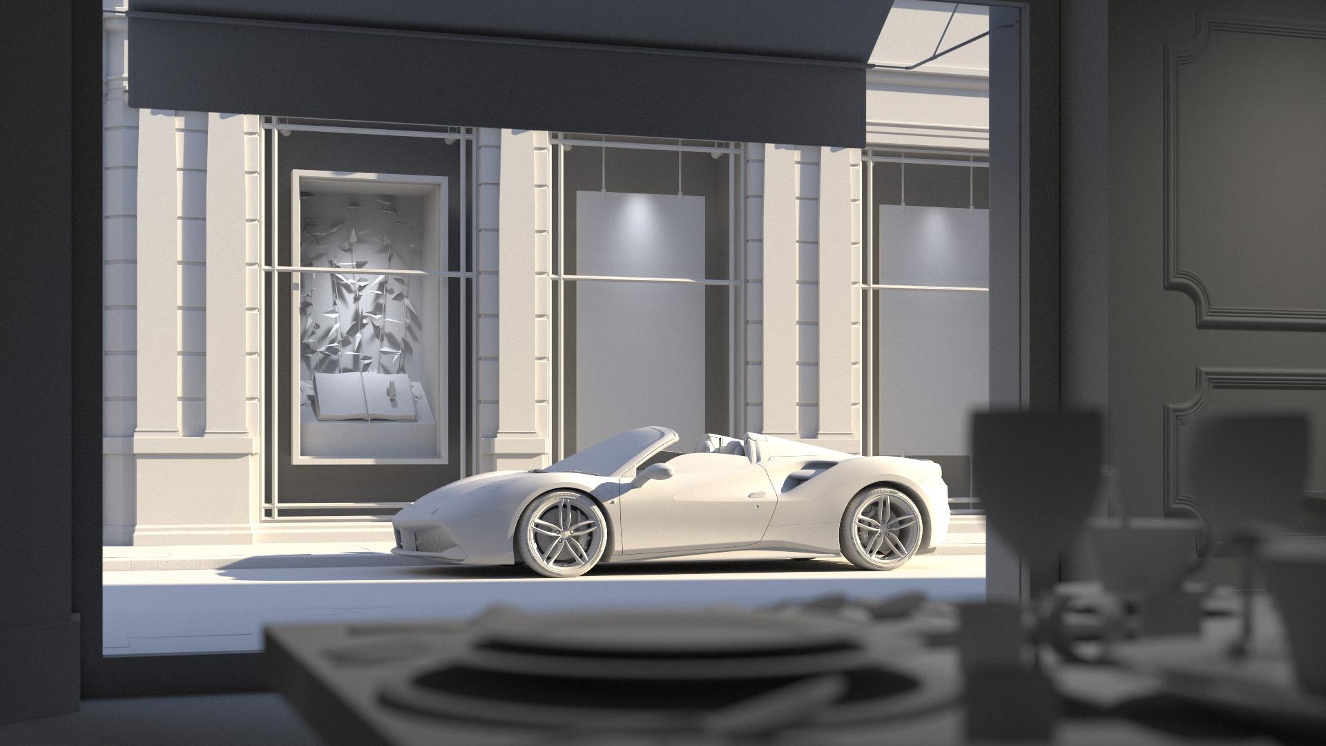 Ferrari 488 Spider - chalk 1